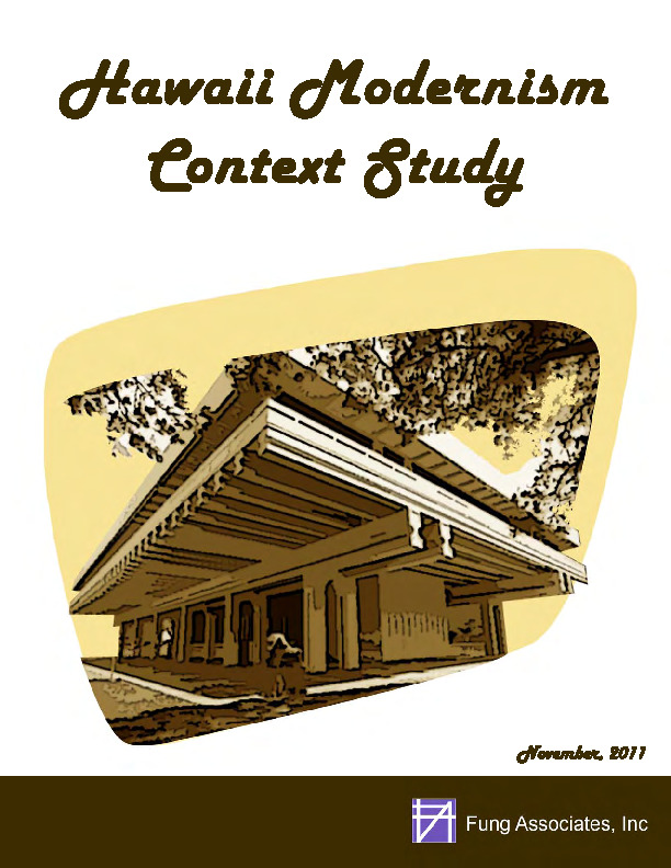 Hawaii Modernism Context Study